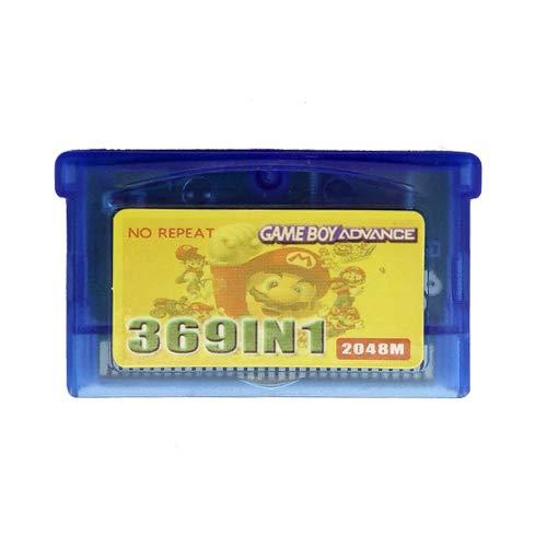 Juego 369 en 1 cassette con tarjeta anfitriona colección de videojuegos para GBA GBM GBASP NDS NDSL