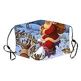 PPangUDing Weihnachten Mundschutz Waschbar Wiederverwendbar Atmungsaktive Staubdicht Halstuch Multifunktionstuch Bandana Schlauchtuch für Herren und Damen