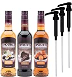 Upouria Coffee Syrup Variety Pack - French Vanilla,...