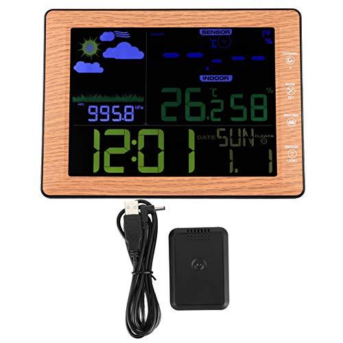 Snufeve6 Reloj Despertador, Reloj meteorológico Reloj de Escritorio inalámbrico Reloj Digital, Reloj Despertador para niños para Interior y Exterior