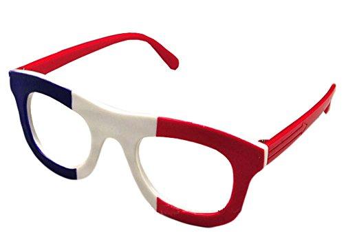 Französisch Flagge Brillen-Kind-Partei-Dekoration Glas-Rahmen