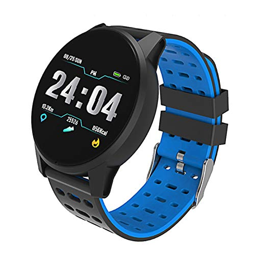 Kimilike Smart Bracelet B2 - Pulsera con Monitor de sueño y frecuencia cardíaca, Bluetooth, Color Azul