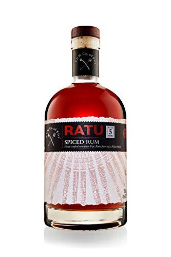 RATU Spiced Rum – würzig, fruchtig & ausbalanciert – Orange, Vanille, Zimtstange & Sternanis – Premium Rum von den Fidschi Inseln - 5 Jahre tropisch gereift - 40% - (1x 0.7 L)