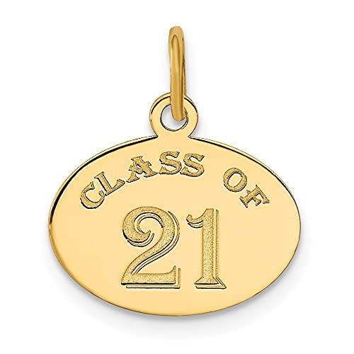 Collar con colgante de oro de 14 quilates, clase ovalada de 2021, regalo de joyería para mujeres