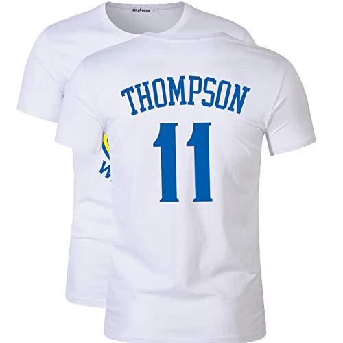 MHDE – Camiseta de entrenamiento Uniforme de baloncesto de algodón de manga corta de algodón transpirable White(11) S