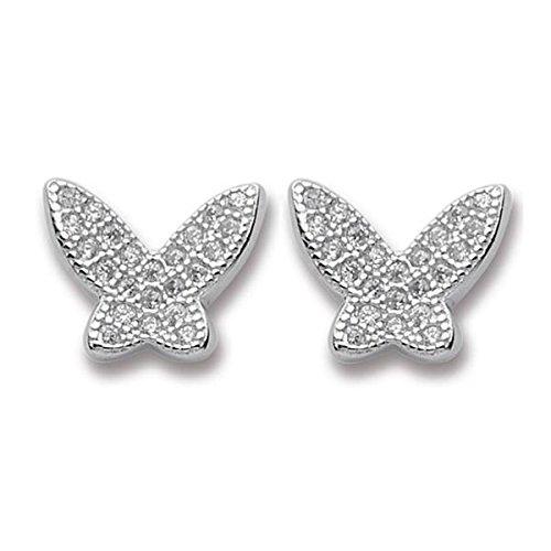 Orecchini Boccadamo a lobo a forma di farfalla con zirconi