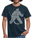 Eishockey Torwart Begriffe Eishockeyspieler Männer T-Shirt, M, Navy