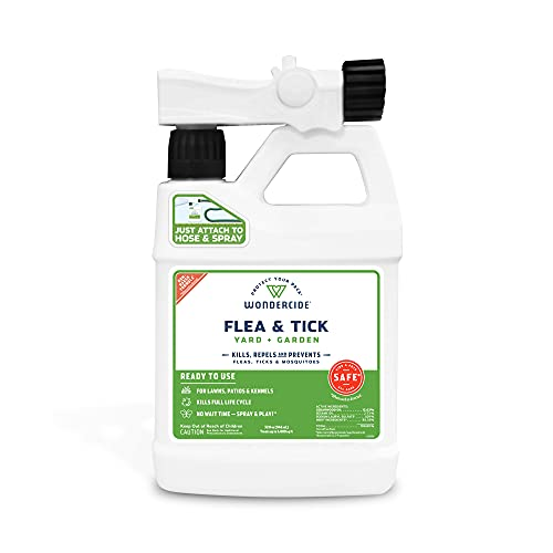 Wondercide - Ready to Use Flea, Tick, and Mosquito Yard Spray with Natural Essential Oils – Mosquito and Insect Killer, Treatment, and Repellent - Plant-Based - Safe for Pets, Plants, Kids - 32 oz