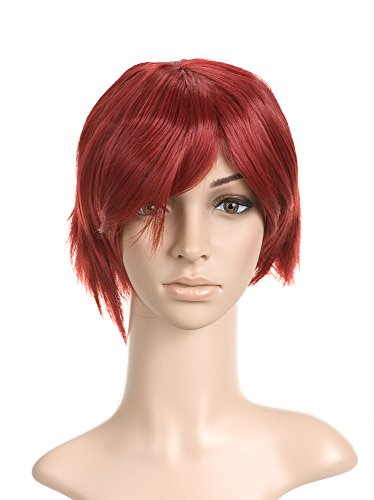 Red Short Chin Length Cosplay Costume Wig
