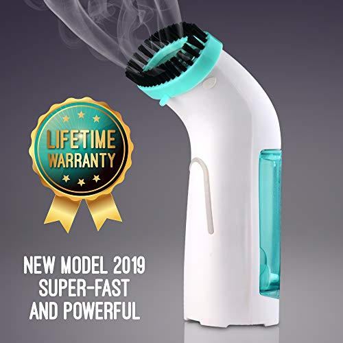 Mini Travel Garment Steamer – Portable Handheld Steamer Disinfects, Releases Wrinkles, and Refreshes On The Go – Quick Steam, Leak-Free Iron Replacement for Clothes and Other Fabrics