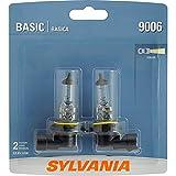 SYLVANIA - 9006 Basic - Halogen Bulb for Headlight, Fog, and Daytime Running Lights (Contains 2 Bulb)
