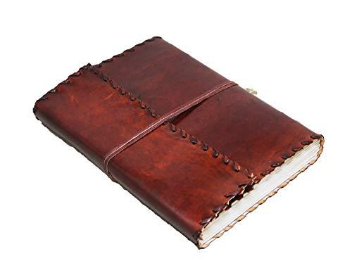 25 Cm Bloc-notes Carnet Cahier Feuilles Leather journal Intime avec Couverture en Cuir Fait à Main grimoire Book of shadows Blank Leather journal Celtique livre d'ombres leather diary