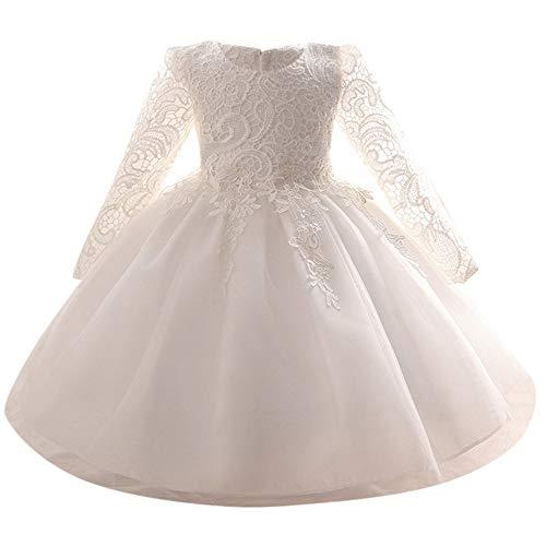 Jimmackey Neonata Bambine Grandi Bowknot Vestito Pizzo Floreale Principessa Tutu Abito Solido Tulle Lungo Dress