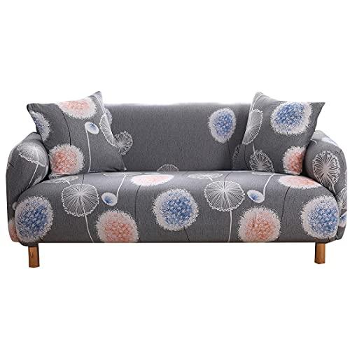 ASCV Funda de sofá con Estampado de Hojas Pastoral Sofá en Forma de L Sofá de Diferentes Formas Sofá de Dos plazas Sala de Estar Dormitorio Oficina A4 1 Plaza