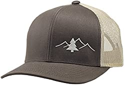 in budget affordable LINDO Trucker Hat-Outdoor Collection (Brown / Brown)