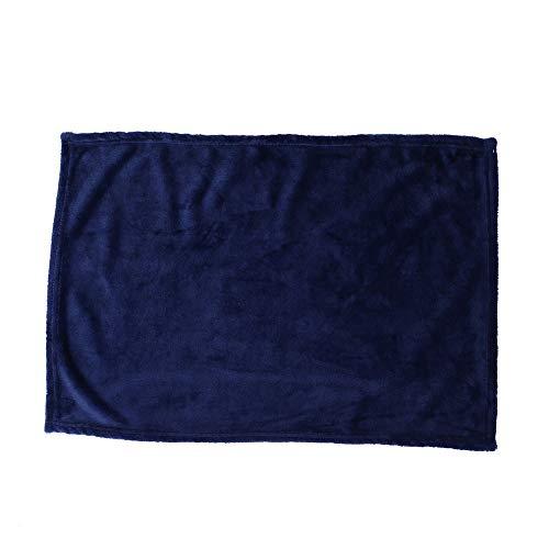 #N/V Manta de color sólido de forro polar coral cómoda para dormir en el hogar, cama, sofá, manta