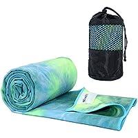 Ativafit Non Slip Yoga Towel (Green/Yellow)