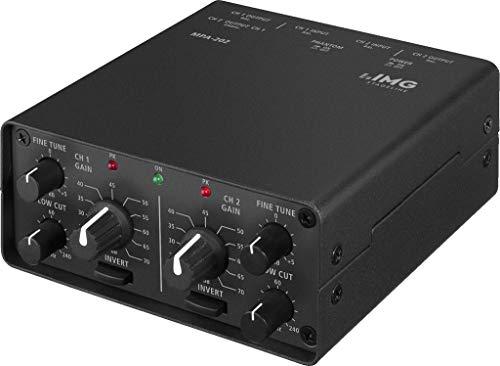 IMG Stageline MPA-202 2-Kanal Low-Noise Mikrofon-Vorverstärker schwarz