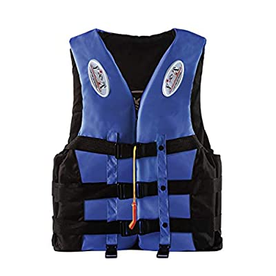 Relliable Bob Kayak Life Vest for Adult, Personal Aid Jacket for Women Men, S-XXXL Plus Size Swimming Equipment for Buoyancy Fishing Boating Watersport