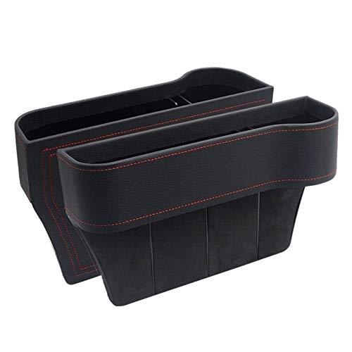 Los asientos del coche Gap Filler, Pu Asientos de Piel consola organizador de bolsillo, Catcher Entre los asientos Organizador for la carpeta del teléfono móvil monedas claves de CA ( Color : Negro )