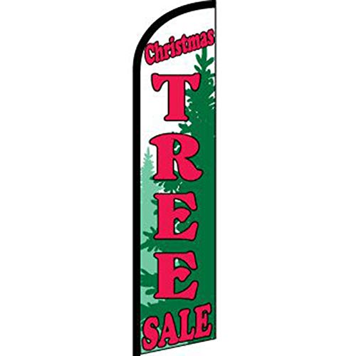 NEOPlex -'Christmas Tree Sale' 12-Foot Windless Swooper Feather Flag (Flag ONLY)