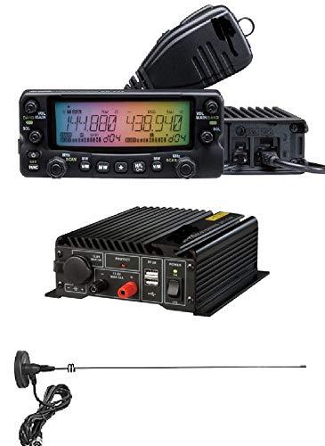 モービル機 DR-735D 20W 無線機 144/430Mhz アマチュア無線トランシーバーセット (12-24V DC-DCコンバーター マグネットケーブル4mアンテナ50cm付き)