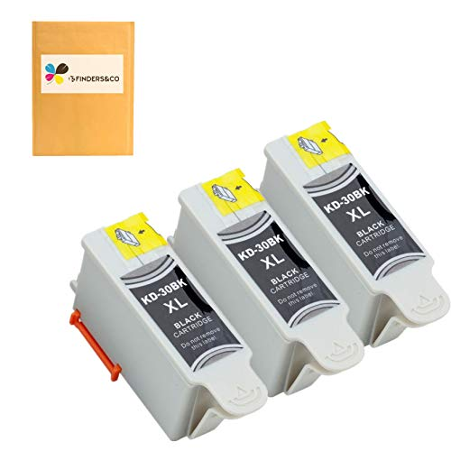 Compatible Kodak 30 30B Black Ink Cartridges Replacement for Kodak ESP C315 C310 ESP 3.2 ESP C110 Office 2150 2170 Hero 3.1 Hero 5.1 Printers (30XL, 3BK)