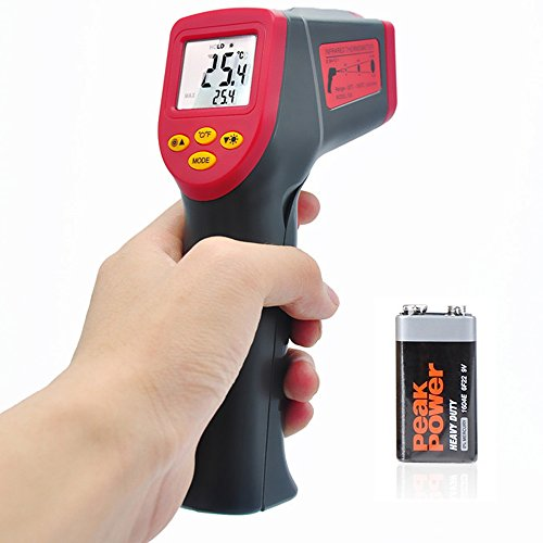 Valuetom Laser Infrared Thermometer Temperature Gun Accurate Non Contact Thermometer for Car,Cooking,Baby,-32°C-530°C (-26°F-986°F)