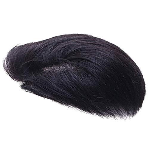 WDHWD Perruque mâle Cheveux Courts Gros Dos véritable Cheveux pièce de Rechange de tête pour Homme Beau et Naturel, Aucune Trace Belle (Couleur: B, Taille: 16 * 18CM)