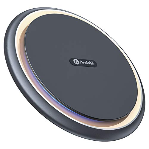 Andobil Boost Wireless Charger,15W Qi-Certified Safe Charging Pad Compatible for iPhone12/12 Pro/12 Pro Max, iPhone11/SE/XR/X/8, Samsung galaxy S21/S20/S10/9,Note 20/10/9/AirPods Pro(with USB-C Cable)