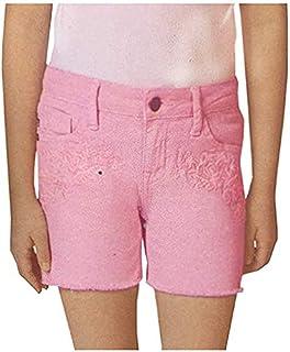 VIGOSS Big Girls' Super Stretch Denim Fashion Mid Shorts (Victory Twill, 7)