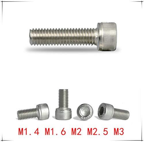 Vite a testa cilindrica con esagono incassato in acciaio inossidabile DIN912 M1.4 / M1.6 / M2 / M2.5 / M3 * 2/3/4/5/6/8/10/12/16/20/30/40/50 / Vite lunga 100mm, M3x8 (40 pezzi)