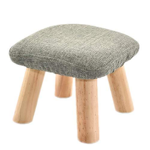 ATTDDP Tritthocker Fußhocker - Lagerung Hocker Hocker Kinderpolster Footchair Holz Couch Pouffe Stuhl Pilz Hocker Startseite Fußbank,Grau