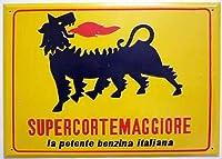 イタリア 看板 インテリア ディスプレイ ガソリンスタンド AGIP アジップ サインボード 雑貨 ヴィンテージ サインボード サインプレート (34.0cm X 26.0cm) [並行輸入品]