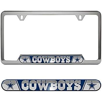 2 Pack Dallas Cowboys NFL Plastic License Plate Frame