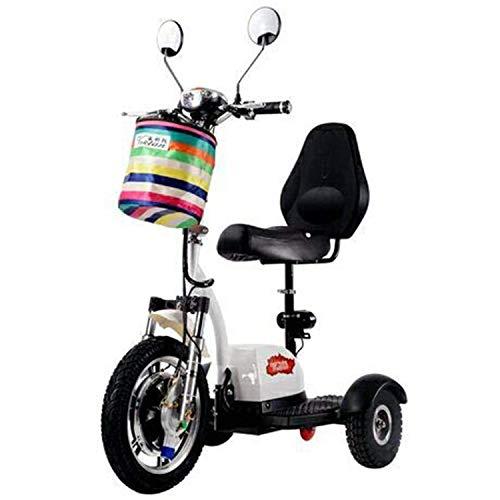 LLPDD elektrische mobiliteit scooter 3-wiel volwassenen scooter opvouwbaar dubbel zadel