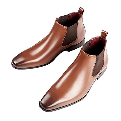 Botas Chelsea para Hombre, Elegantes Botas de Cuero sin Cordones clásicas con...