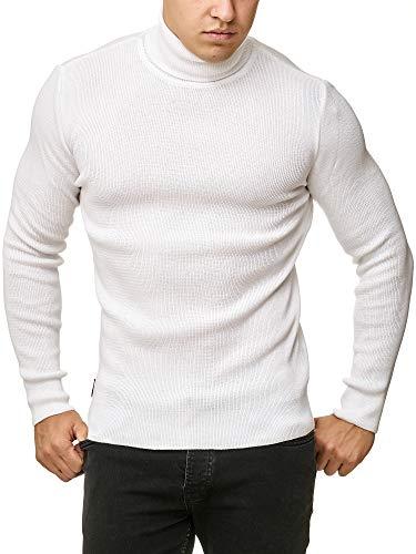 Red Bridge Herren Rollkragen Pullover Sweatshirt Strickpullover Weiß XL