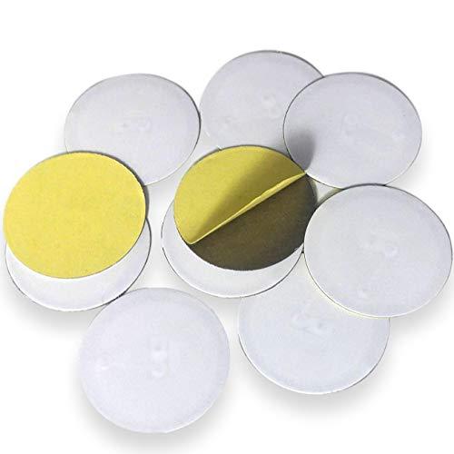 10 NFC Anti-Metall Tags |  NXP Chip NTAG213  | 144 Byte Speicherkapazität | runde weiße Etiketten | Hohe Scankraft | starker Aufkleber | Klebstoffe für Metalloberflächen