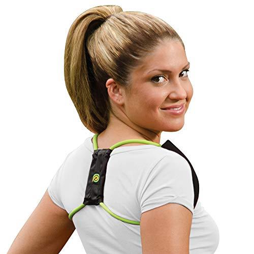 Posture Medic Dynamic Posture Brace for Neck, Upper and Lower Back - Long-Term Posture Correction Tool, Unlike Static Posture Correctors That Just Yank Shoulders Back, Medium Regular Strength, Green
