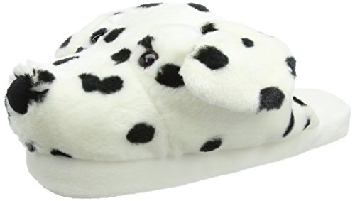 Aroma Home Fun for feet Dog Slippers - Dalmatian, kuschelige Pantoffeln Hundekopf Dalmatiner, 1 Paar