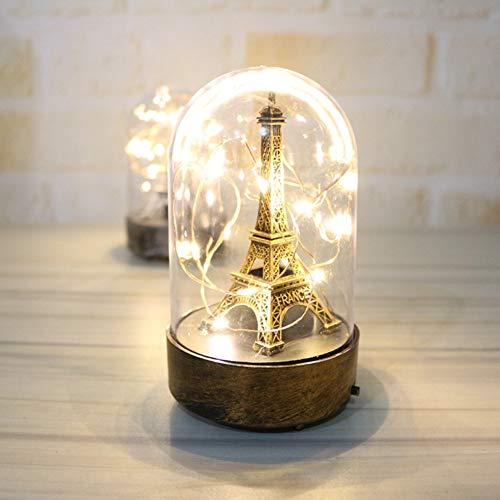 Yiwa Eiffeltoren licht ornamenten familie accessoires nacht lamp plafond van glas licht Valentijnsdag cadeau verjaardag