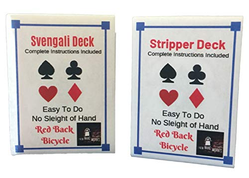 London Magic Works Red Stripper Deck, Red Svengali Deck, and Over 200 Tricks You Can Master!