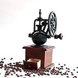 WHSS - Macinacaffè vintage per macchina da caffè a mano, macinino a forma di chicchi di caffè, portatile, manuale 11,3 x 11,4 x 24 cm (colore : rosso)