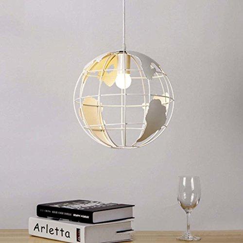 BAYCHEER Lámpara colgante moderna de altura regulable con forma de globo terráqueo para despachos, comedores, salones, pasillos o restaurantes