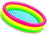 Intex Kiddie Pool - Kid's Summer Sunset Glow Design 45' x 10'   Inflatable Kiddie Swimming Paddling Pool Child/Children/Toddler Water Play Center   Rainbow Colored for Kids   for Girls or Boys