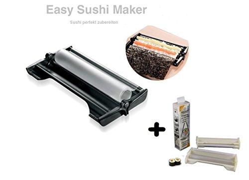 Easy Sushi Maker 2er Set Sushiroller Ø 3,5 cm schwarz Maker Ø 2,5 cm Weiss Gratis