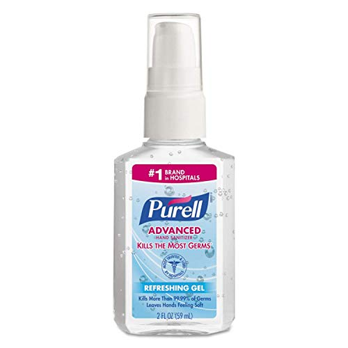 Purell Advanced Hand Sanitizer Refreshing Gel, Pump Bottle, 2 Ounce