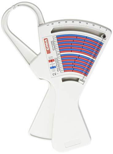 GIMA ref 27344 Plicómetro para la medición de grasa corporal, medidor preciso del espesor de los pliegues cutáneos en varias partes del cuerpo, dispositivo médico, calibrador de grasa, adipómetro