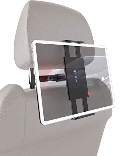 Squish Car Headrest Mount Holder, Universal Car Headrest Mount Car Backseat Tablet Holder for iPad Pro/Air/Mini, Kindle,Tablets Nintendo Switch Smartphones, Compatible with 4.5' to 11' Devices, 360°